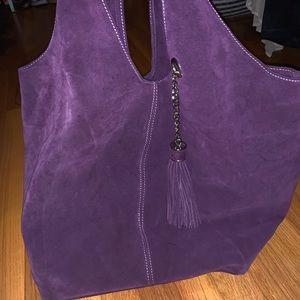 Handbags - Purple Suede Tote